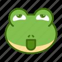 emoticon, frog, funny, nasty icon