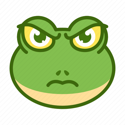 angry, emoticon, frog, funny, mad icon