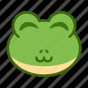 cute, emoticon, frog, funny, smile icon