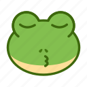 cute, emoticon, frog, funny icon