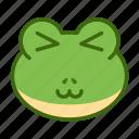 adorable, cute, emoticon, frog, funny icon