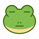 emoticon, flat face, frog, funny icon
