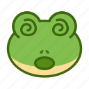 confused, emoticon, frog, funny icon