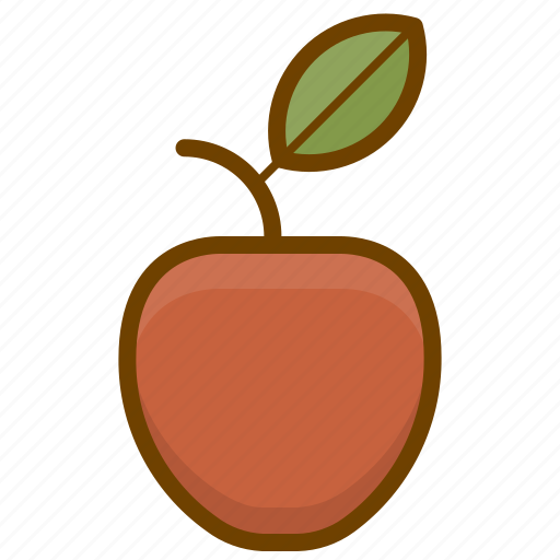 apple, food, fruit, health, organic, vegan, vegetarian icon