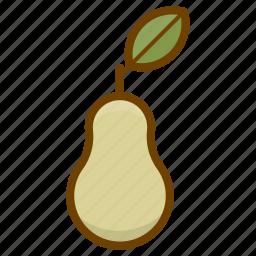 food, fruit, health, organic, pear, vegan, vegetarian icon