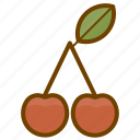 berry, cherry, food, fruit, health icon