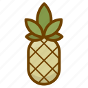 ananas, food, fruit, health, pineapple icon