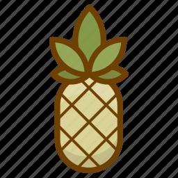 ananas, food, fruit, health, pineapple icon