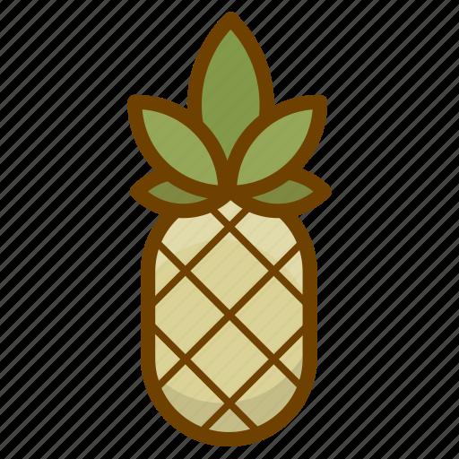 ananas, food, fruit, health, organic, pineapple, vegan icon
