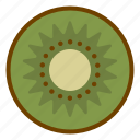 food, fruit, health, kiwi, organic, vegan, vegetarian icon