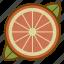 food, fruit, health, orange, organic, vegan, vegetarian icon