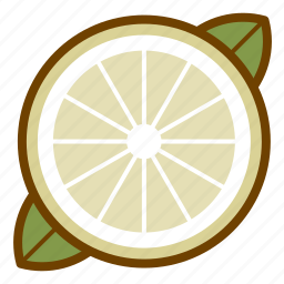food, fruit, health, lemon, organic, vegan, vegetarian icon