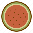 food, fruit, health, watermelon icon