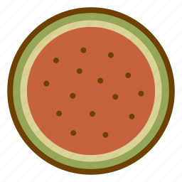 food, fruit, health, organic, vegan, vegetarian, watermelon icon