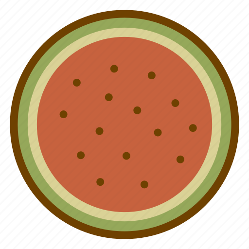 food, fruit, health, organic, vegan, vegetarian, watermelon icon