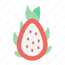 dragonfruit, fruit, food, juicy, tropical fruit