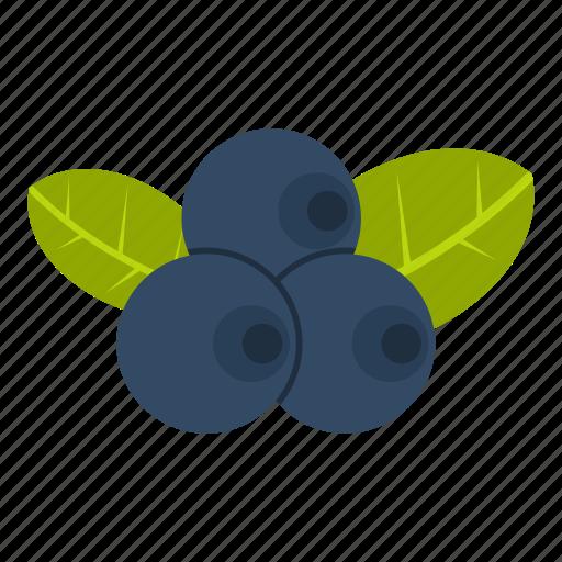 berry, blue, blueberry, food, fresh, fruit, white icon