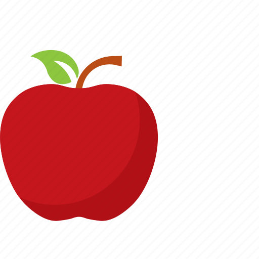 apple, fruit, red icon