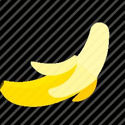 banana, fruit, yellow icon