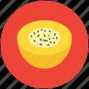 cantaloupe melon, food, fruit, half melon, melon, round fruit