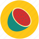fruit, half of watermelon, watermelon, watermelon slice icon