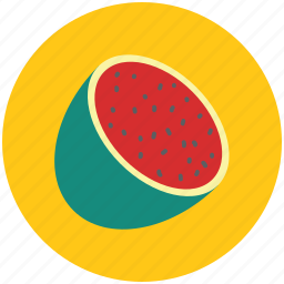 fruit, half of watermelon, watermelon, watermelon slice icon