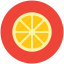 citrus, food, fruit, half orange, healthy diet, orange icon