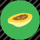 alligator pear, avocado pear, fruit, half avocado, pear, tropical fruit icon