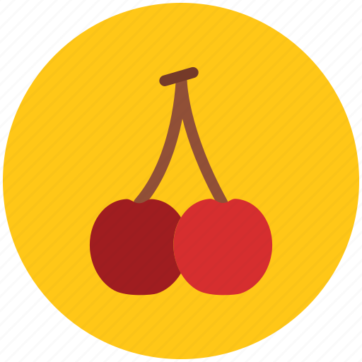 cherry, food, fruit, healthy diet, stone fruit icon