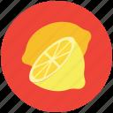 lemon, food, half lemon, fruit, healthy diet, lime icon
