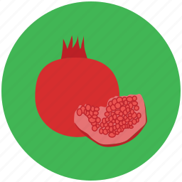 food, fruit, healthy food, pomegranate, spherical fruit icon