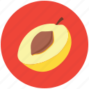 apricot, food, fruit, half of apricot, healthy diet, peach