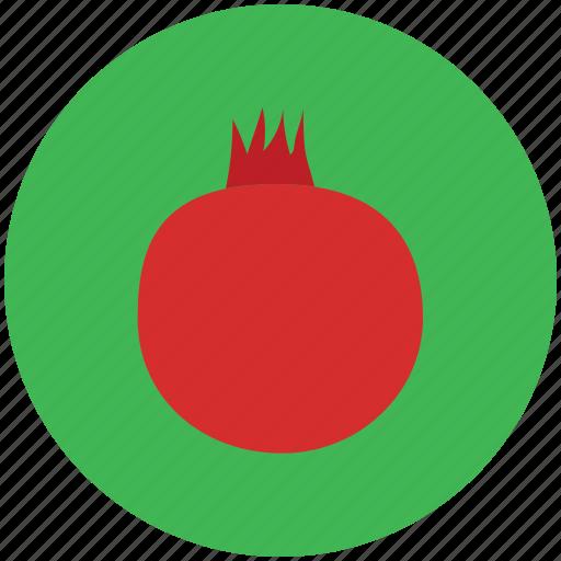food, fruit, nutrition, pomegranate, spherical fruit icon