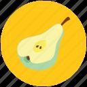 food, fruit, half pear, healthiest food, nutritious food, pome icon