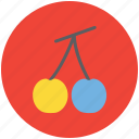 cherry, food, fruit, healthy diet, healthy food, stone fruit icon