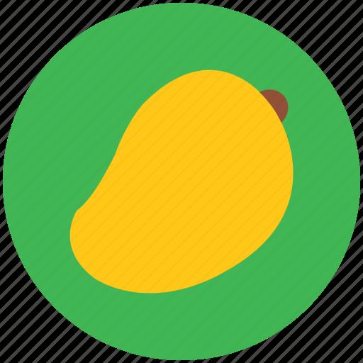 fleshy fruit, fruit, mango, mango fruit, tropical icon