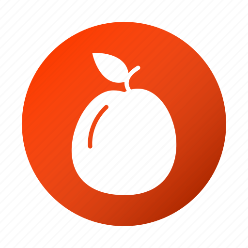apricot, food, fruit, tasty icon