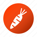 carrot, food, rabbit, tasty, vegetable icon