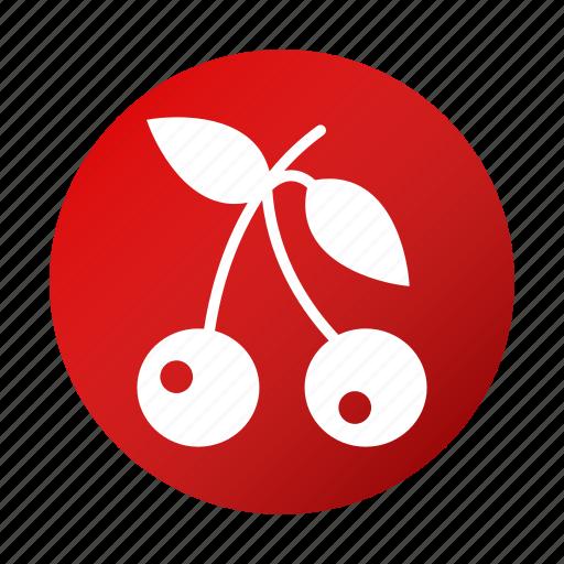 cherries, food, fresh, fruit, tasty icon