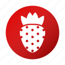fruit, healthy, strawberry, tasty icon