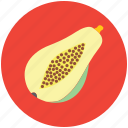 food, fruit, half pear, healthiest food, nutritious food, pome icon