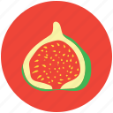 food, fruit, half pomegranate, pomegranate, punica granatum, spherical fruit icon
