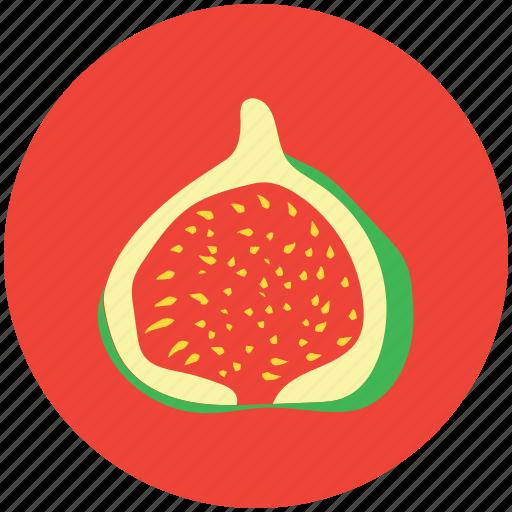 food, fruit, half pomegranate, pomegranate, punica granatum, spherical fruit icon