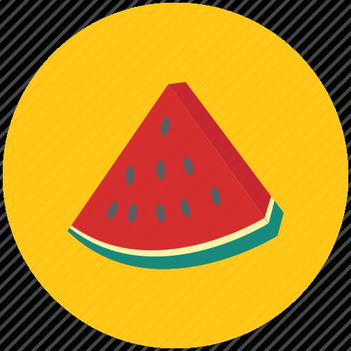 fruit, piece of watermelon, watermelon, watermelon slice icon