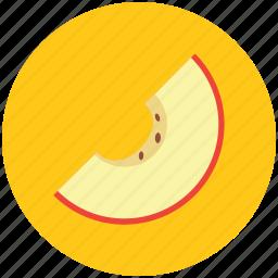 cantaloupe melon, food, fruit, honey dew, melon, round fruit, slice of melon icon
