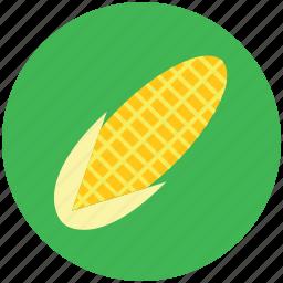 corn, corncob, food, maize, pole corn, sugar corn, sweet corn icon