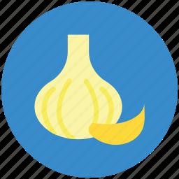 allium sativum, diet, food, garlic, spice icon