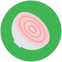 common onion, diet, food, half of onion, onion, vegetable icon