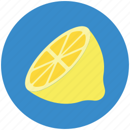 food, fruit, half lemon, healthy diet, lemon, lime icon