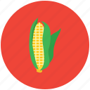 corn, corncob, food, maize, pole corn, sugar corn, sweet corn icon